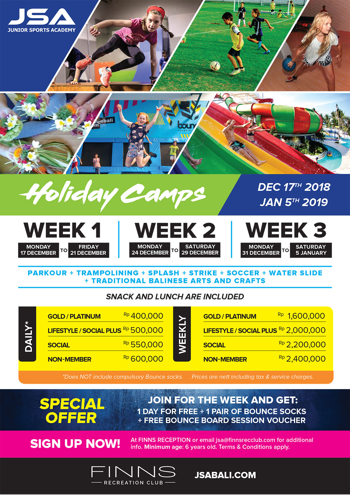 Holiday Camps 17th Dec 2018 – 5th Jan 2019